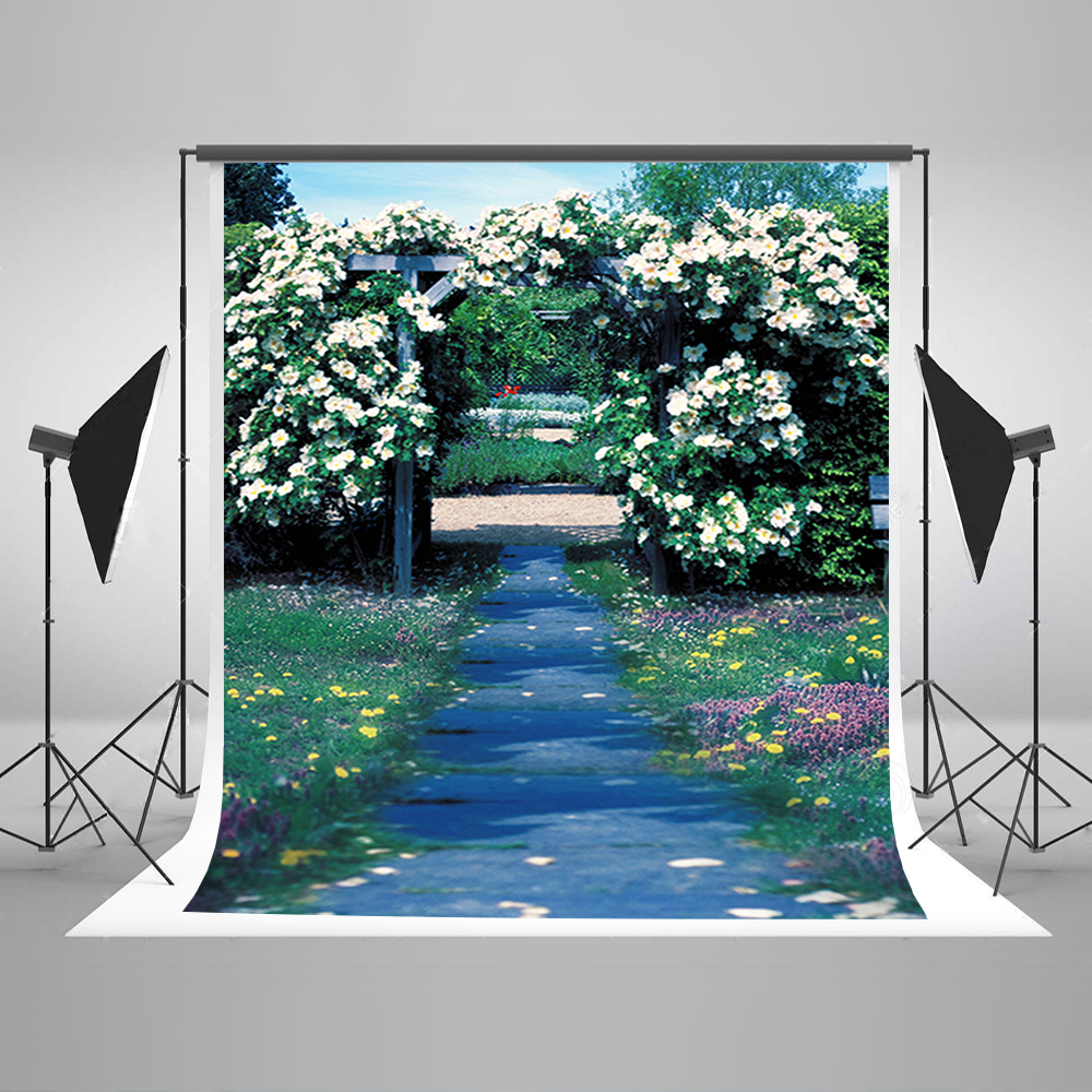 Valentine's Day Photography Background Blue Sky White Clouds Background Flowers And Grassland Backdrops for Photographic Studio 10 6 5feet 300 200cm photography backdrops vast blue sky and white clouds sofa free shipping
