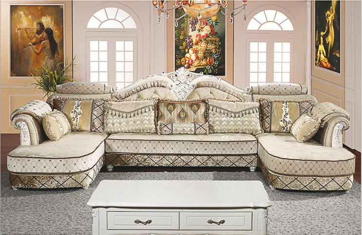 Living Room Furniture Modern Fabric Sofa European Sectional Sofa Set A1265