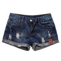 2017 denim shorts estate delle donne vintage distressed donna jean shorts cranio ornamento casual femminile dei jeans a vita shorts