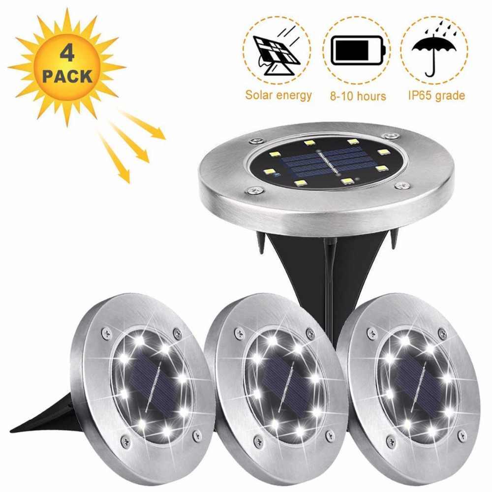Eslas светодиодный светильник для сада 4 шт. лампы для газона фонари работающие на солнечной энергии водонепроницаемое искусственное стекло наружный садовый свет для садового пути