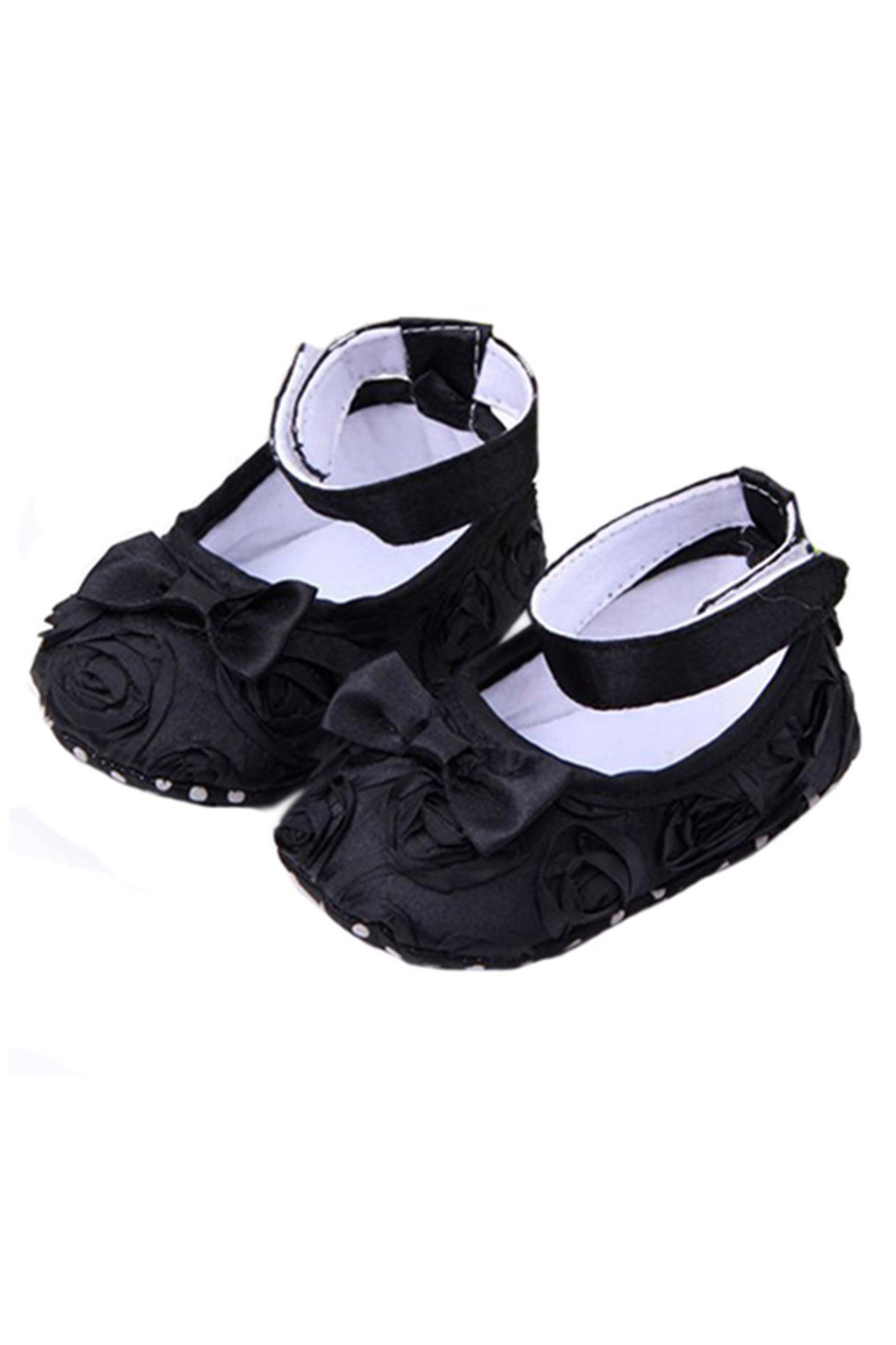 KEOL Best Sale Baby Girl Comfortable AntiSlip Princess Toddler Shoes (0-6 month, Black)