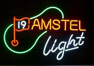 Custom Made Amstel Light Golf Glass Neon Light Sign Beer Bar
