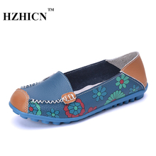 Hot Sale Shoes For Women Genuint Leather Loafers Cow Plus Size Women's Shoes Oxford Bottom Sapatos Feminino Comfortable Flats