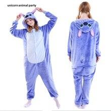 Adult Flannel Kigurums Onesie Unisex Cosplay Pajamas  One For Party Jumpsuit Costume Animal Nightwear Sleepwear