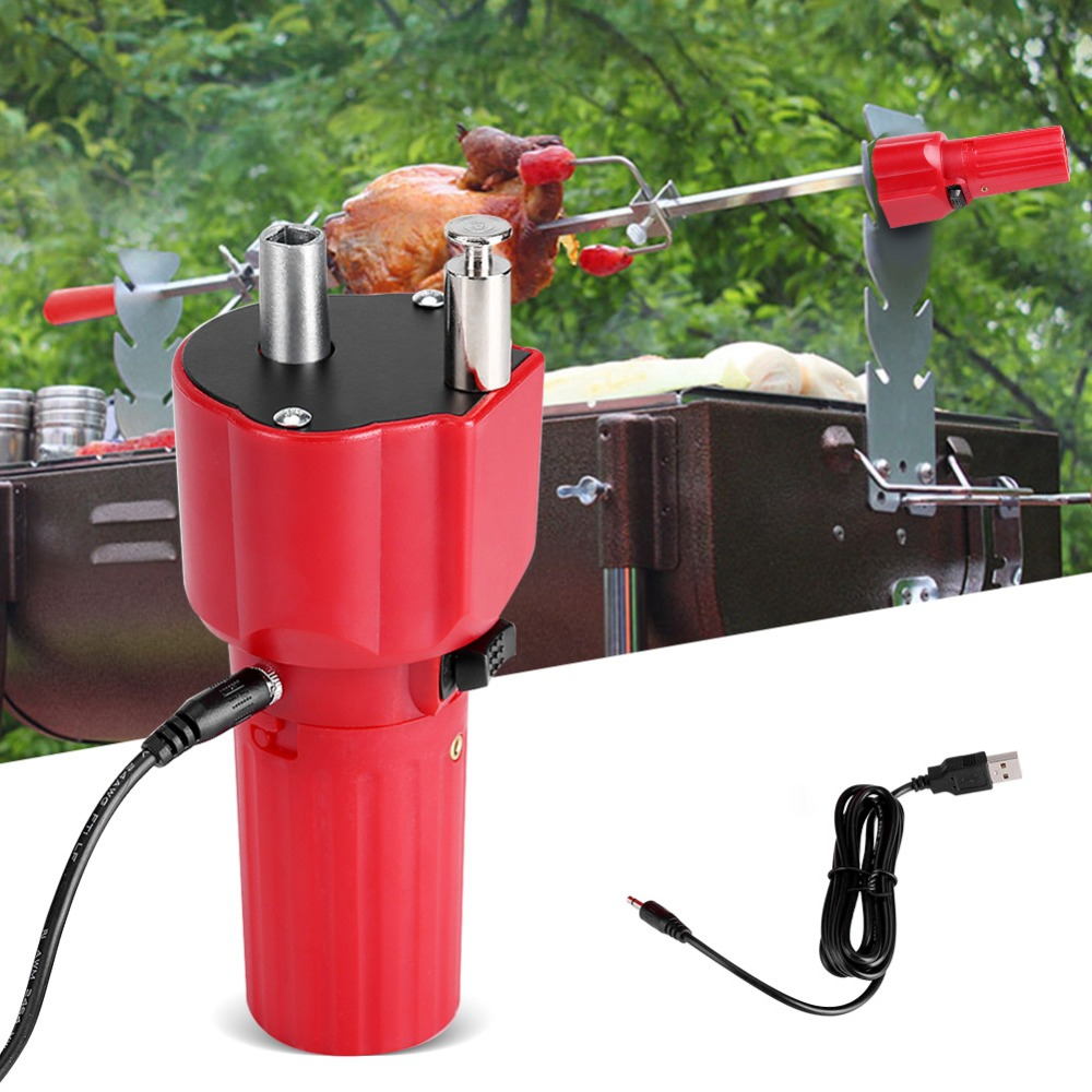все цены на Original USB Barbecue Motor Rotisserie Rotator Electric BBQ Grill Rotating Motor For Outdoor Picnic Grill Skewers онлайн