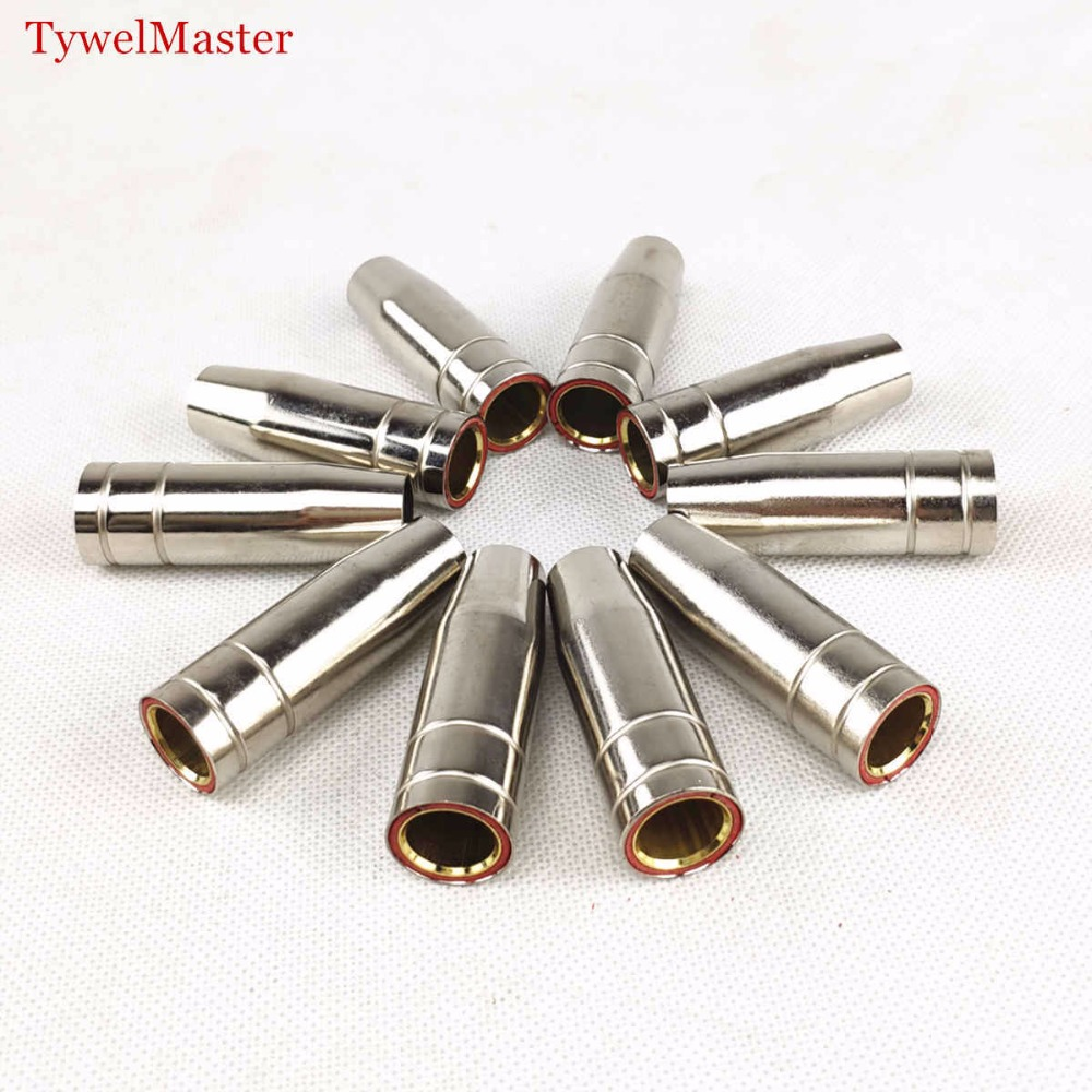 Welding Nozzle MIG Torch MAG Welding Gun Consumable Contact Tip Shield Cup 15AK Gas Nozzle