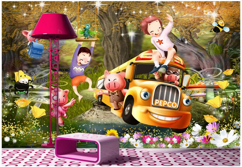 3d room wallpaper custom mural non-woven photo designs Cartoon car forest kids decoration painting 3d wall murals wallpaper custom photo 3d wallpaper non woven mural 3d wall murals wallpaper for living room european watercolor roses decoration painting