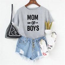 Luslos camiseta feminina, 3 cores, para o verão, de manga curta, com letras impressas, para mães, plus size, casual camisetas macias