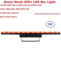 2 Units 12X3W WW / CW Optional LED Wash Washer Lights Indoor DMX Wash Bar LED Stage Lighting With Running Horse Functions