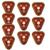 10 pcs Botão de Chamada Sem Fio Transmissor Pager Sino Garçom Chamada Pager para Restaurante Mercado Shopping F3286F de Espera Do Sistema de Paginação
