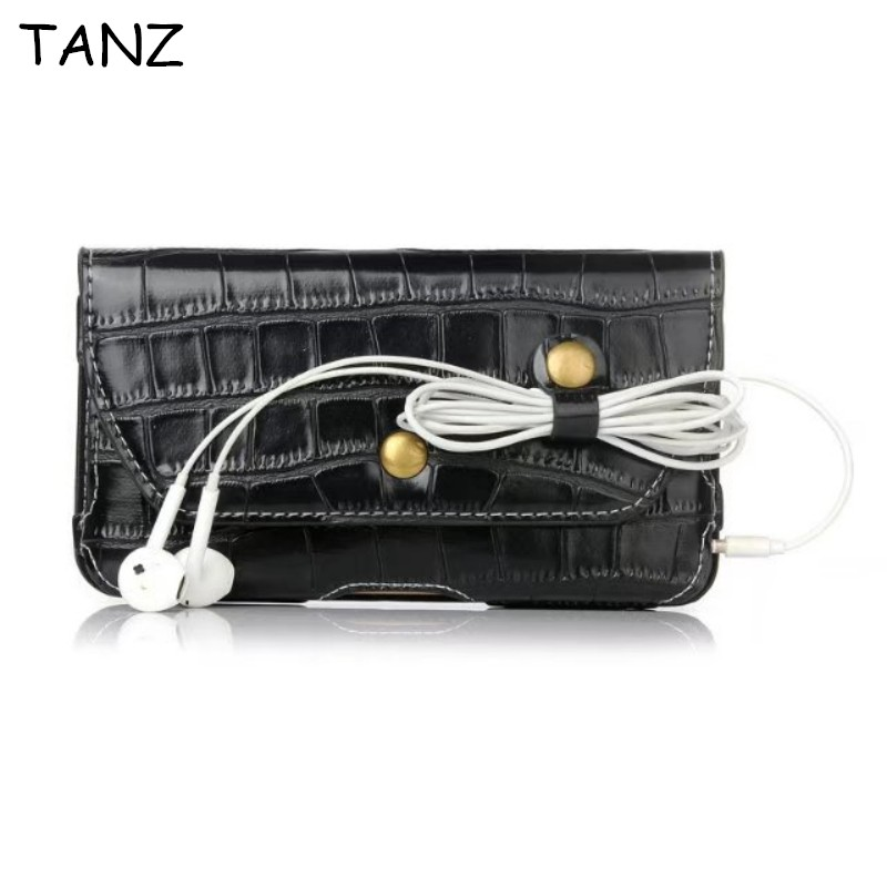 TANZ Universal pu Leather Crocodile grain Smartphone bags Waist Pack Men Belt Bag Mobile Phone Bag Case for samsung GALAXY Pouch