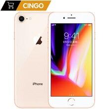 Оригинальный Apple iphone 8 шестиядерный 1821 мАч ОЗУ 2 Гб ПЗУ 64 Гб 3D Touch ID 4,7 дюймов 12 МП LTE сканер отпечатков пальцев телефон iphone8