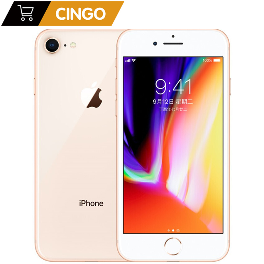 Galleria fotografica Original Apple iphone 8 Hexa Core 1821mAh RAM 2GB ROM 64GB/256GB 3D Touch ID 4.7 inch 12MP LTE Fingerprint Phone iphone8