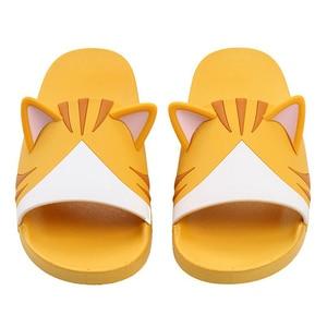 Image 5 - Women Girls Slide Sandals Cartoon Dog Cat Summer Animal Beach Slippers Platform Slides Shoes Ladies Soft Sole Flip Flops