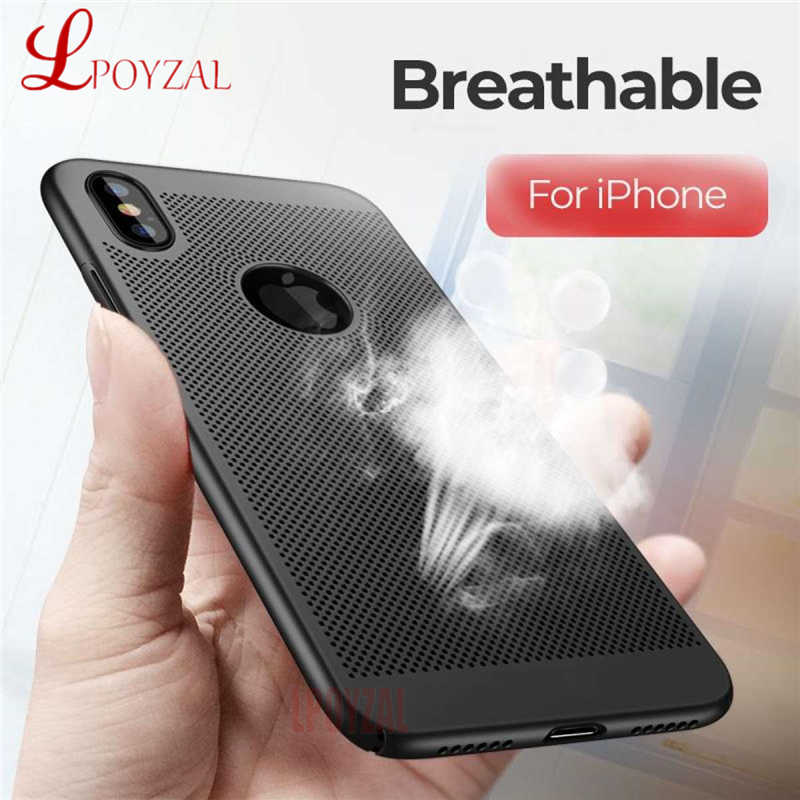 Ultra Slim Phone Case For iPhone 7 8 6 6S Plus 5S SE Hard PC Hollow Heat Dissipation Cases For iPhone XR XS MAX X Back Cover