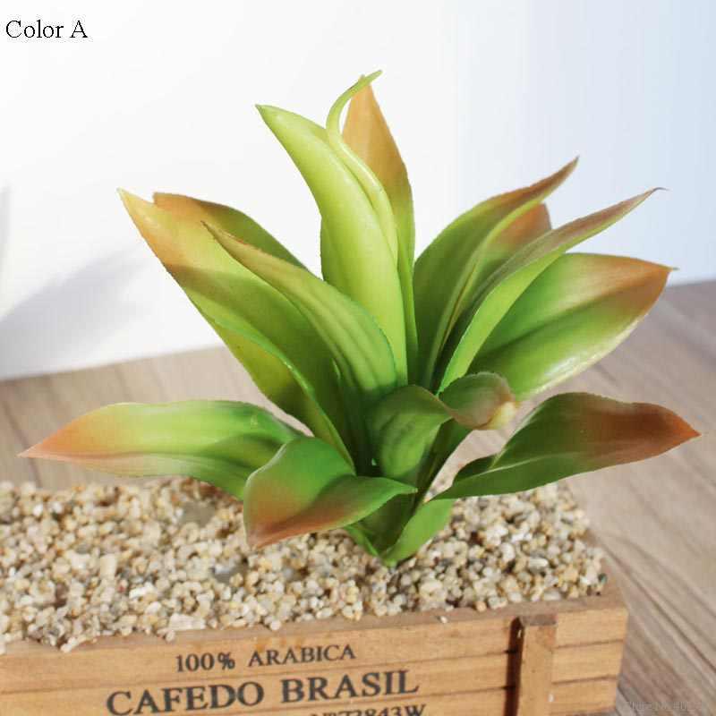 1 sztuk pcv sztuczne fleshiness Aloe sukulenty grass plante artificielle fałszywy kaktus na dekoracja do przydomowego ogrodu kwiaty