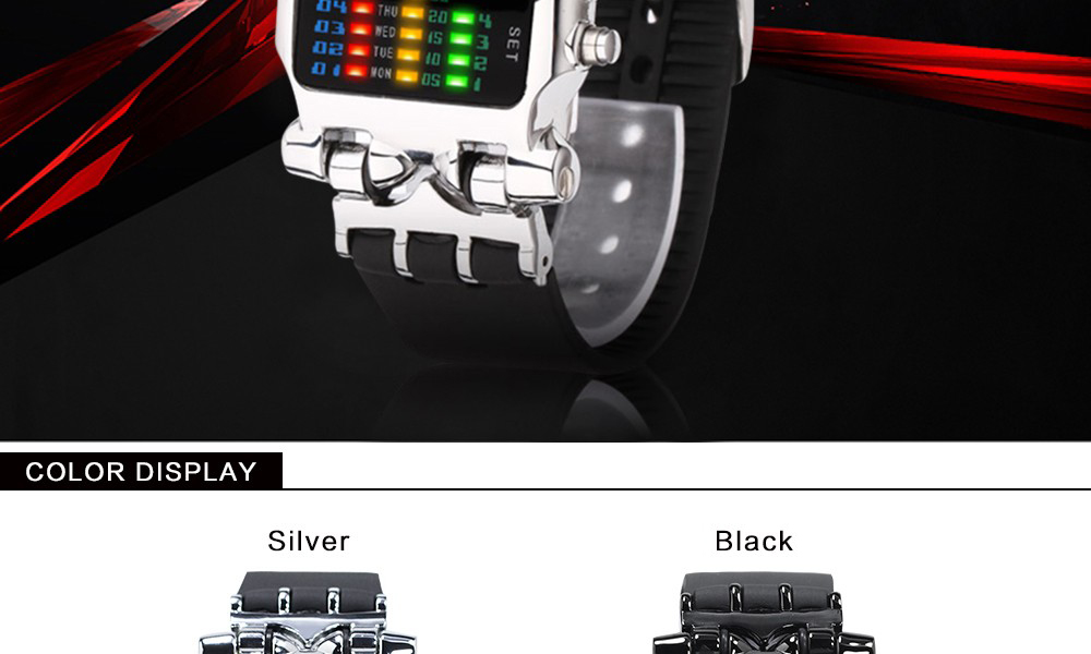 Luxury Brand TVG Watches Men Fashion Rubber Strap LED Digital Watch Men Waterproof Sports Military Watches Relogios Masculino 2