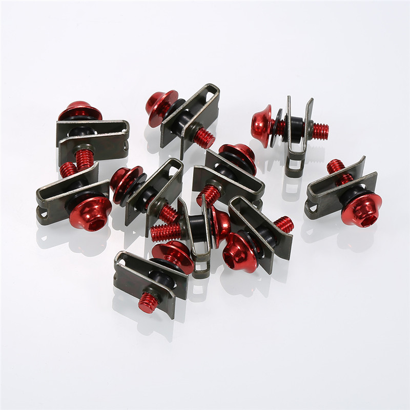 10PCS Aluminium M5 Fairing Bolts Fastener Clips Screw Nuts For Motorcycle Accessories Car Truck Metal Nuts & Bolts Motorcycle