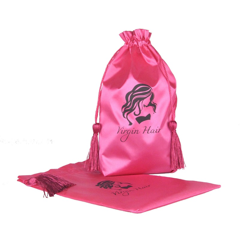 10pcs Pink Virgin Hair Bag With Purl Packaging Drawstring Bags Extension Garment In Storage From Home Garden On Aliexpress
