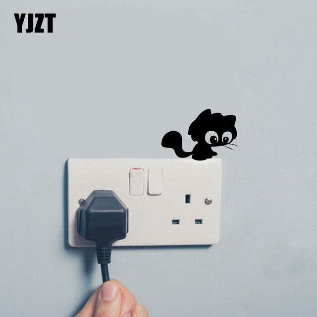 Eenzaam Kat Schakelaar Sticker Dier Vinyl Cartoon Nice Decal Decor ...