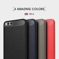 4 Color The Latest Carbon Fiber Bamboo Phone Cover Case For Xiaomi Mi 6 Mi6 Luxury