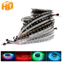 Full Color WS2812B LED Strip DC5V Black / White PCB RGB Smart Pixel control Led Strip