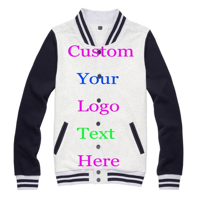 Custom Print Logo Baseball Jacket Silk Screen Transfer Print ...