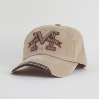 Cotton Embroidery Letter W Baseball Cap Snapback Caps Bone Casquette Hat Distressed Wearing Fitted Hat For