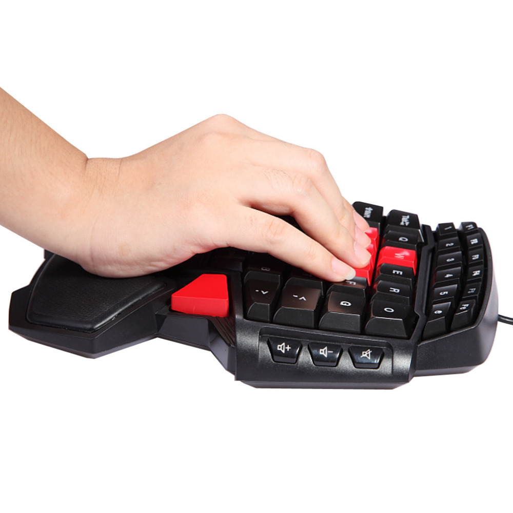 Creative gift T9 47 Keys Single Hand wired Professional gaming keyboard LED Ergonomic Keypad in Keyboards from Computer Office