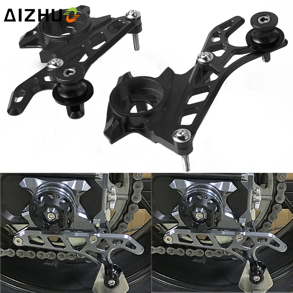 FOR YAMAHA MT 07 FZ 07 MT07 FZ07 MT-07 2014 2015 2016 2017 CNC Aluminum Motorcycle Rear Wheel Axle Stand Pick Up Hook Set for yamaha mt07 fz07 mt 07 fz 07 2014 2016 motorcycle accessories cnc black fixed frame