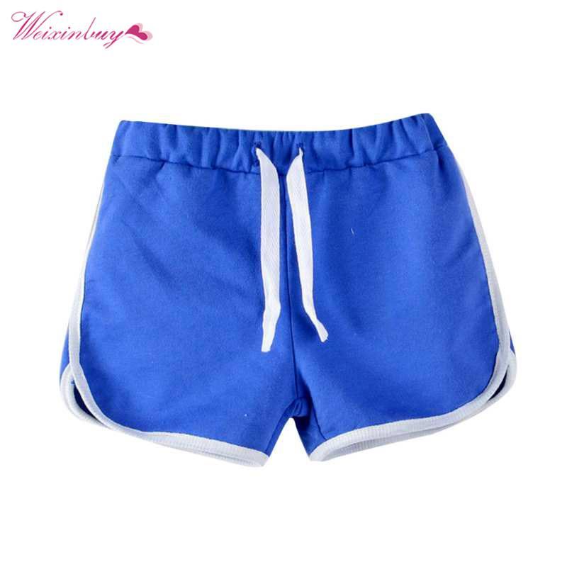 WEIXINBUY Trousers Unisex Boys Girls Shorts Hot Summer Child Beach Pants Candy Color Shorts Kids Children Pants