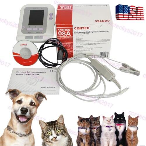 Adult SPO2 vet Blood Pressure Monitor sensor CONTECMED CONTEC08A Digital Veterinary NIBP Blood Pressure Monitor 6-11 ARM digital veterinary nibp blood pressure monitor with spo2 probe for vet contec08a