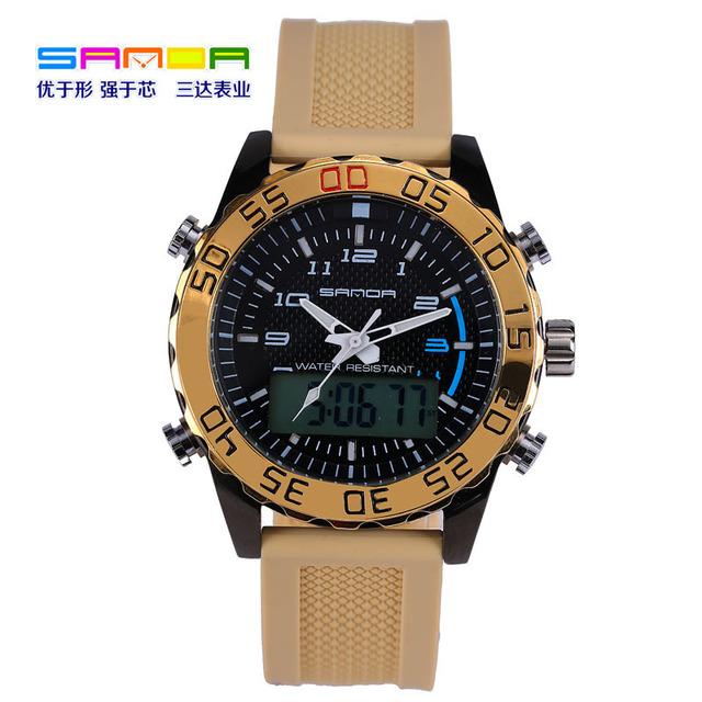 2017 nueva sanda calidad superior famoso reloj de los hombres de moda reloj automático reloj impermeable de los hombres del ejército reloj deportivo digital militar