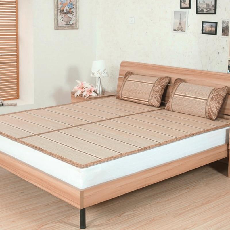 Bamboo Sleeping Mat Bed Mattress Protector Bamboo Bed Mat