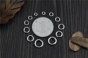 10 шт., 925 пробы, серебряный цвет, круглые Открытые Кольца/Закрытые кольца, ювелирное изделие, сделай сам, браслет, ожерелье, ювелирное изделие