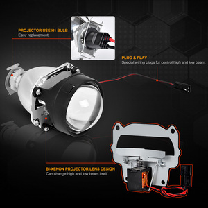 Image 3 - Universal 2.5 Inch WST Mini Headlight Projector Len H4 H7 Socket For DIY Retrofit Lamp Motorcycle High Low Beam Use H1 HID Bulb