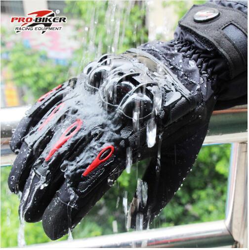 2018 Hot sale Motorcycle Gloves Winter Warm Waterproof Windproof Protective Gloves 100% Waterproof Guantes Moto Luvas MTV08