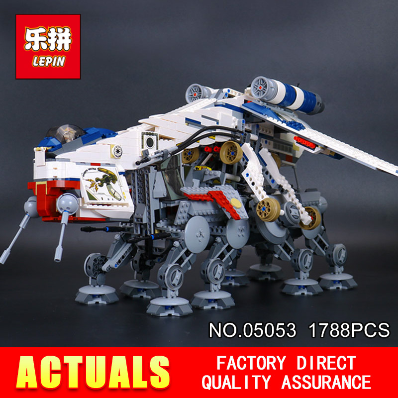 LEPIN 05053 STAR Cool Model 1788pcs Republic Dropship with AT-OT Walker Building blocks Bricks Compatible 10195 Toy Gift WARS lepin sets star wars figures 1788pcs 05053 republic dropship with at ot walker model building kits blocks bricks kids toys 10195