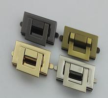 10 teile/los Tasche accessoriesBox tasche hardware teile gold druckguss twist sperre hardware zubehör
