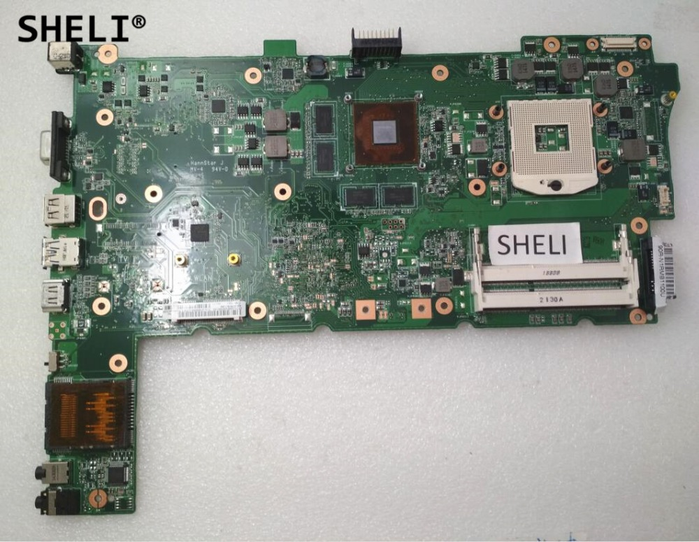 SHELI For ASUS N73SV Motherboard with N12P-GS-A1 GT540 3 RAM Slots for asus n53s n53sv n53sn n53sm motherboard n53sv rev2 2 2 0 mainboard gt540 n12p gs a1 4 ram solts tested ok