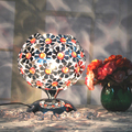 Plum Blossom Ball Table Lamp Bohemia Sitting Room Bedroom Study Colorful Crystal Desk Lamp
