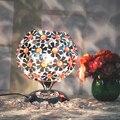 Plum blossom sentado dormitorio sala de estudio lámpara de mesa de bolas de bohemia colorida lámpara de escritorio de cristal