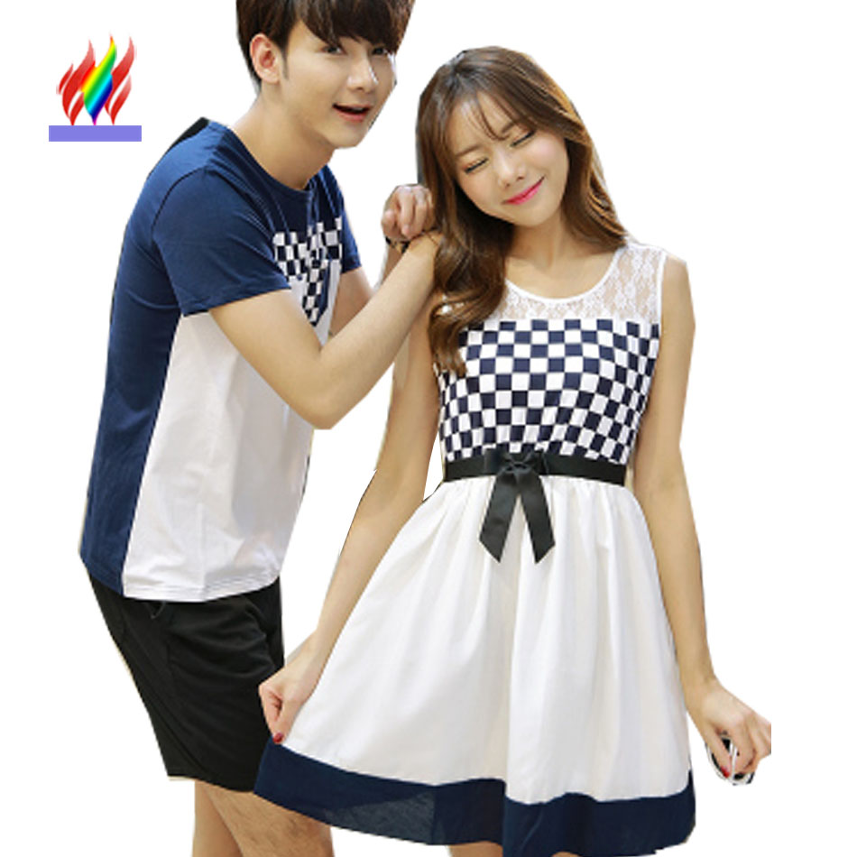 2016 Summer New Korean Matching Couple Clothes Lovers ...