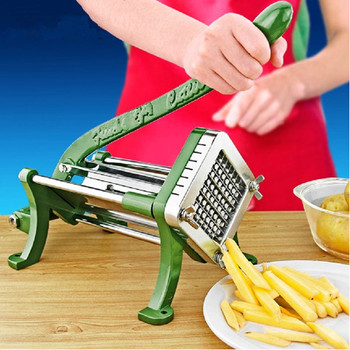 Stainless steel home use manual french fries cutter potato, potato chips strip cutting machine hand press fruit vegetable slicer