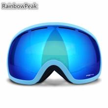 Double – decked ski goggles mountain climbing Riding anti – fog outdoor myopia single Snowboarding glasses Skiing Eyewear