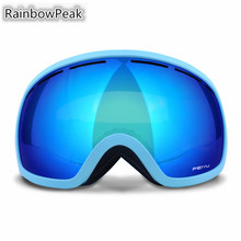 Double – decked ski goggles mountain climbing Riding anti – fog outdoor myopia single Snowboarding glasses Skiing Eyewear