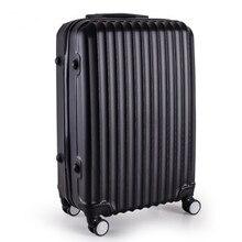YISHIDUN 20 24″inch lovely stripe trolley suitcase luggage durable traveller case ABS+PC Pull Rod trunk boarding bag Women Girl