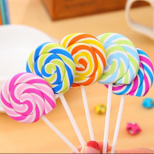 1pcs/lot  New Novelty Lollipop Eraser   Candy Funny Rubber Eraser   Kids Gifts Zakka Gift Stationery Office School Supplies