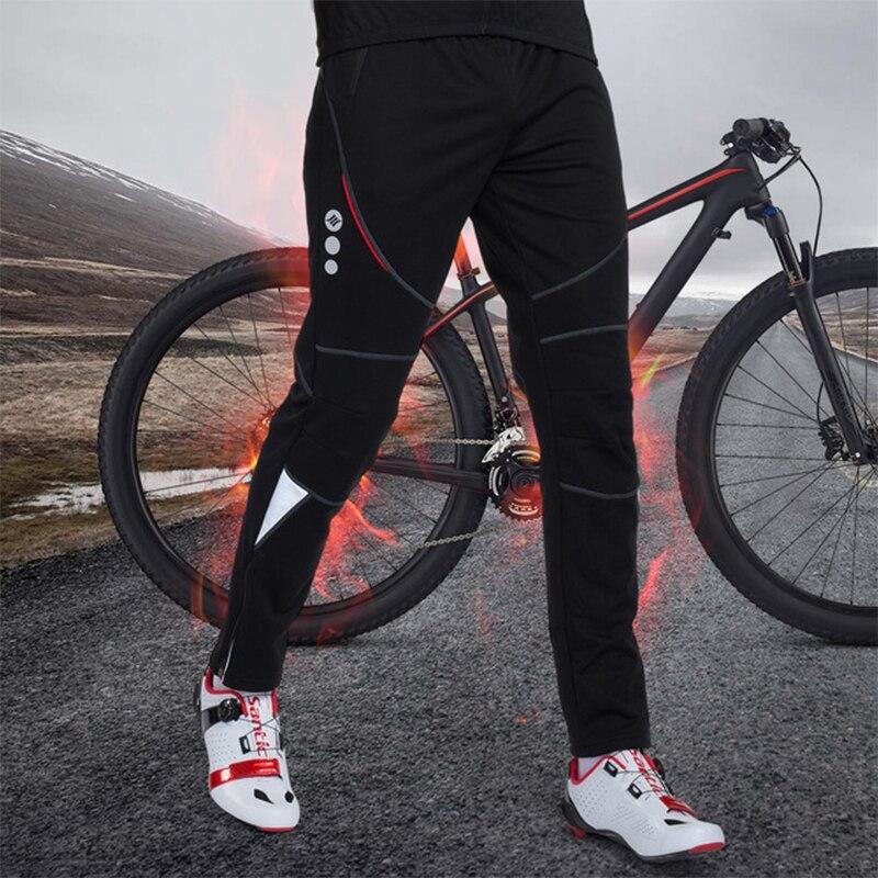 Santic Hommes Cyclisme Polaire pantalon thermique pantalons D'hiver Sport Cyclisme Course pantalons de loisirs C04004