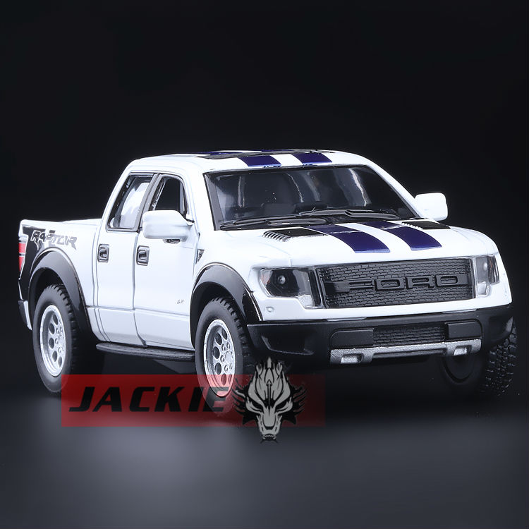High Simulation Exquisite Collection Toys: KiNSMART Car Styling Ford F150 Raptor Pickup Trucks 1:46 Alloy Car Model Best Gifts